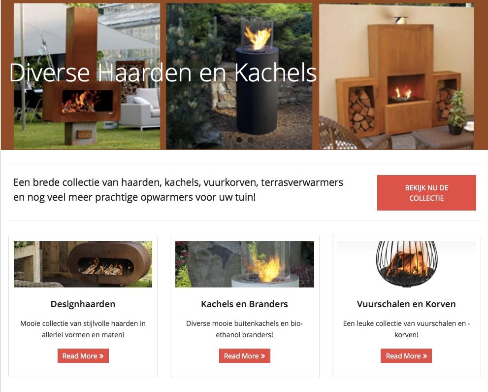 Buitenkachel.com Affiliate Marketing E commerce website