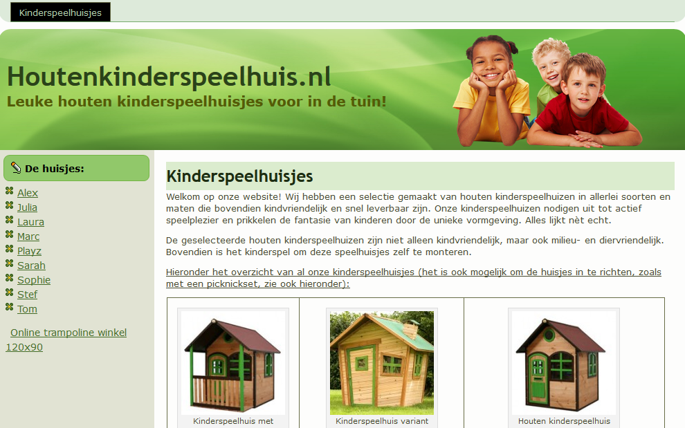 Houtenkinderspeelhuis.nl Affiliate Marketing Wooden Playhouses