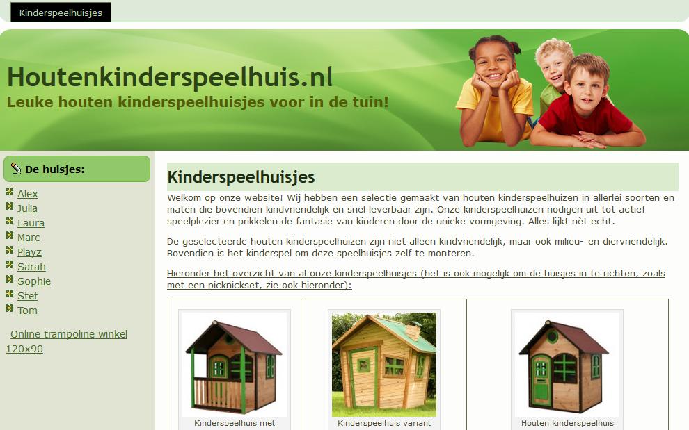 Houtenkinderspeelhuis.nl Affiliate Marketing Wooden Playhouses