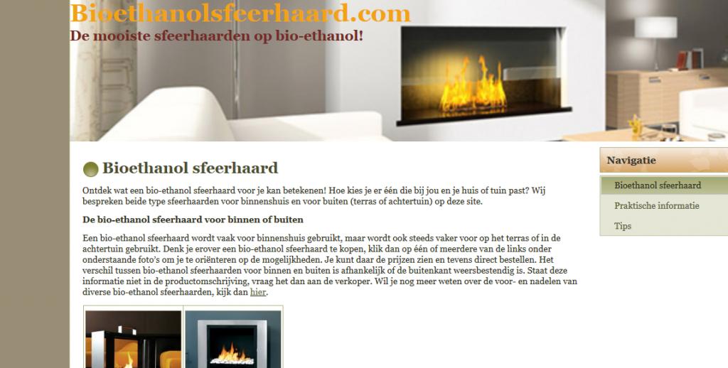 Bioethanolsfeerhaard.com Afilliate Marketing E commerce Webshop Digital Marketing 1024x518