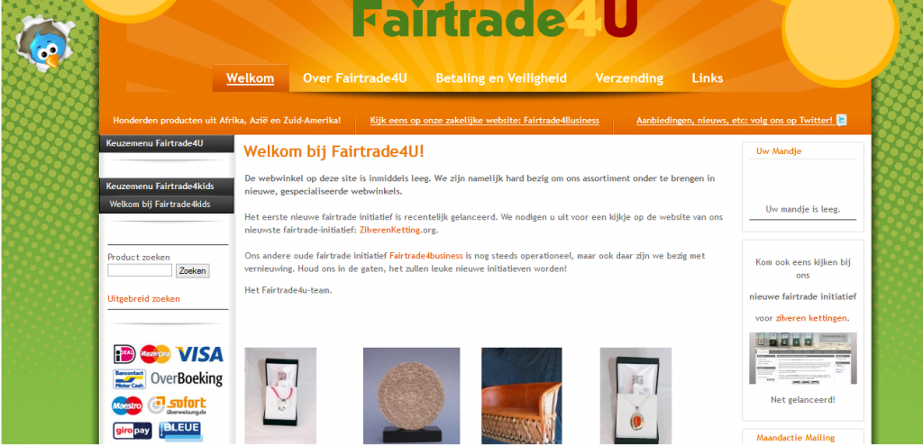 Fairtrade4U Fairtrade E commerce Webshop B2C 1024x494