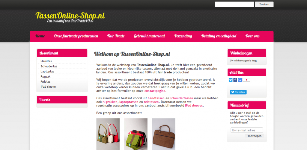 TassenOnline-Shop.nl Fairtrade E commerce Webshop Bags 1024x503