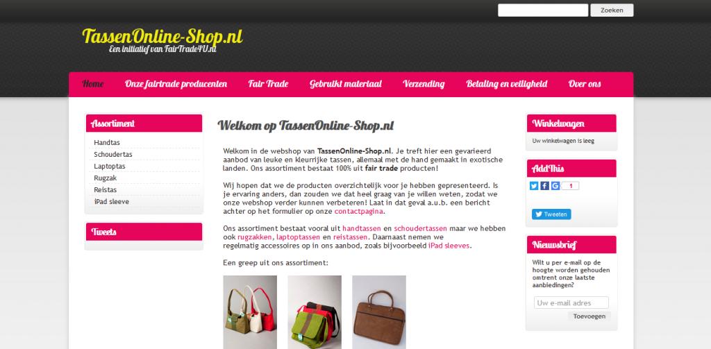 TassenOnline-Shop.nl Fairtrade E commerce Webshop Bags 1024x503