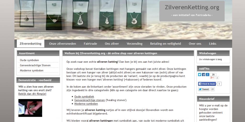 ZilverenKetting.org Fairtrade E commerce Webshop Jewelry 1024x510